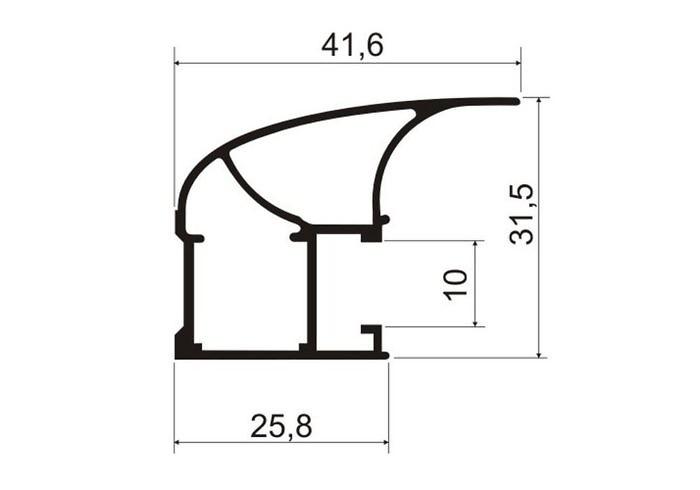 А02.MS130 Профиль вертикальный ассиметричный L-5400