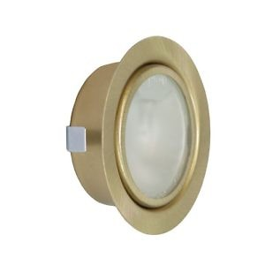 Мебельн.светильник FT-9251 Тзолото (с/л 20W G4) с клем.кол. и выкл. SET (мат.стекло)
