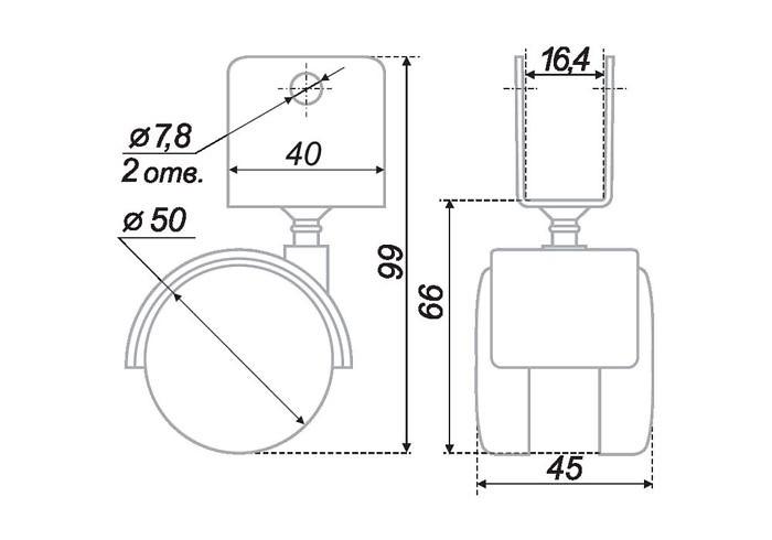 Мебельная опора N106BL/BL.5