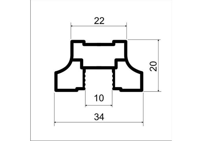 А00.MS160 Профиль вертикальный симметричный L-5.4