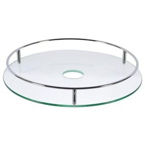 Полка для барной стойки стеклянная 350 мм