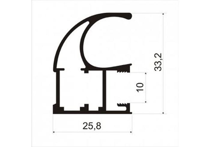 А23.MS125 Профиль вертикальный L-5,4 роз/з