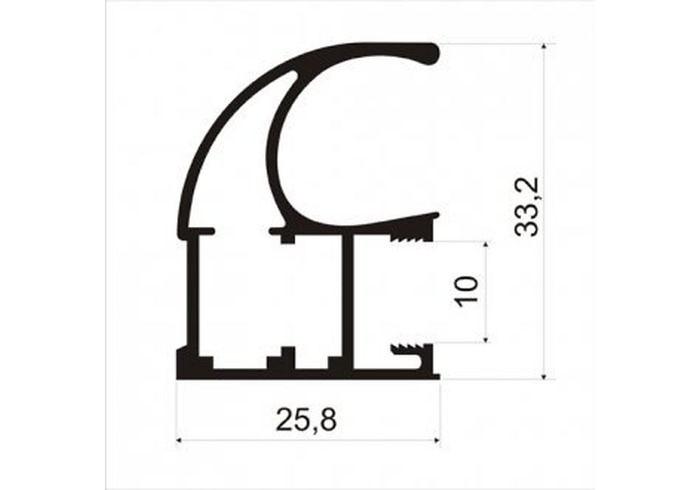 А02.MS125(C) Профиль вертикальный ассиметричный L-5400