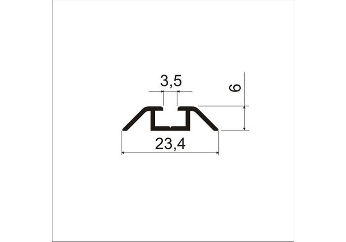 А07.MS340 Направляющая нижняя L-5,8 м/кон однополозковая (8 шт)