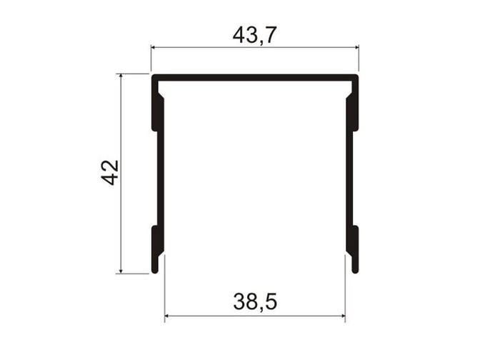 А06.MS330 Направляющая верхняя L-5,8 м/ш л П-образная (8 шт)