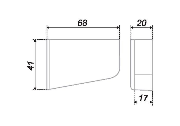 Заглушка CHP01 для навеса правая (50шт) белая