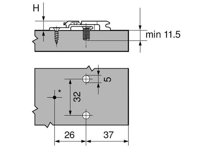 175H9160 MPL V50 NI Планка