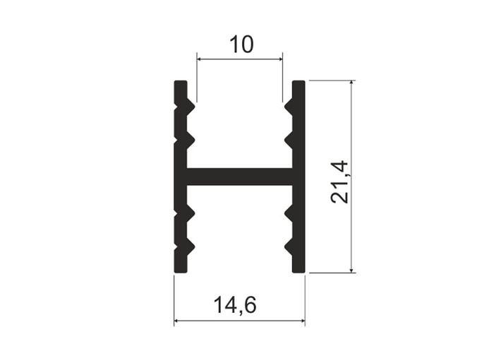 А16.MS410 Рамка двери средняя L-5,8 белая л
