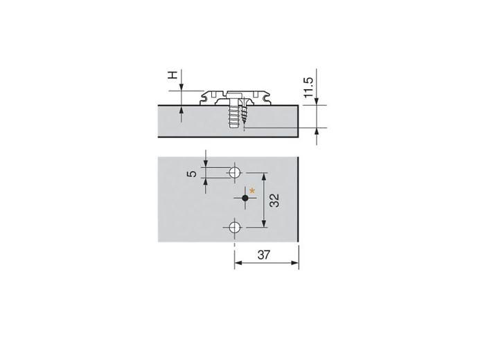173L8100 MPL V500 NI CLIP ответная планка ,евровинты