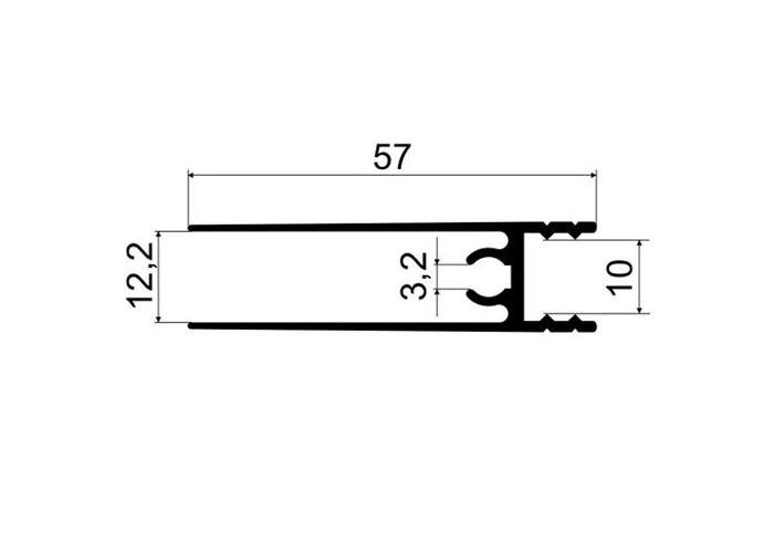 А05.MS220 Рамка двери нижняя L-5,8 гл/шампань