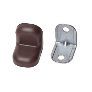 Уголок крепежный металич. с крышкой (20*20*16) венге