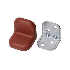 Уголок крепежный металл. с пластиковой крышкой (24*24*25) вишня №8