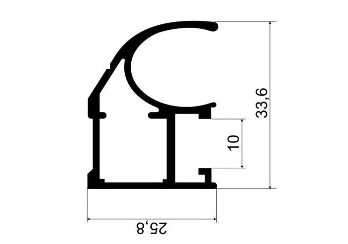 А29.MS210С Рамка двери верхняя L-5,8  (20 шт)