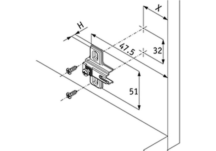 Установочная площадка QS Mini Slide-On (2мм) саморез