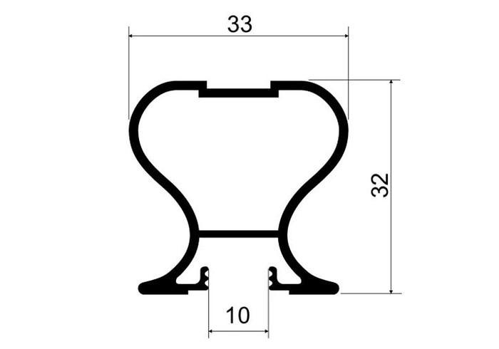 А16.MS110 Профиль вертикальный закрытый Е6