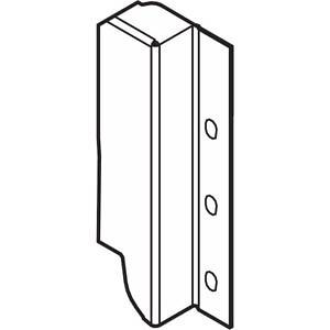 Z30B000S.04HO-R L V50R906 TANDEMBOX держ.зад.стенки из ДСП, hB(160мм),левыйR9006 сер.металлик P/U:50