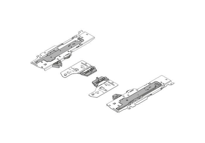 T60B3330 TOB R+LV1R735 Комп(ед.+триг)TIPON BLUMOTIONдляTANDEMBOX Тип L1,NL=350-600мм,пр+лев R7035