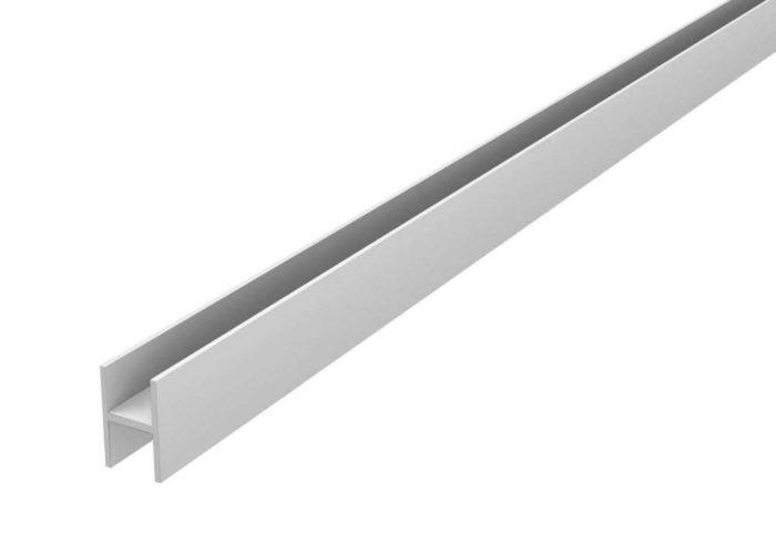 Планка для щита 6 мм L-0,6 м СТ-16 матовая соединит. (50шт.) А
